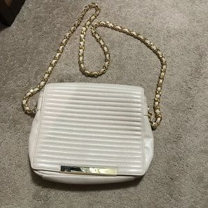 Badgley mischka nude purse